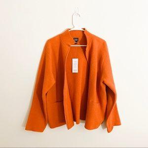 New! Eileen Fisher Wool Sweater Coat